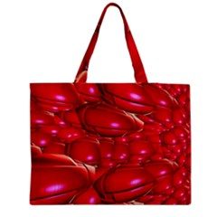 Red Abstract Cherry Balls Pattern Medium Tote Bag by Amaryn4rt