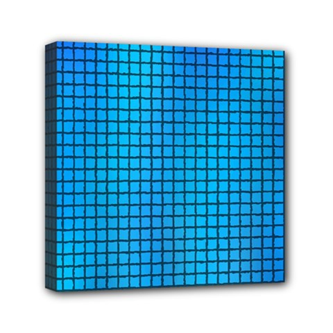 Seamless Blue Tiles Pattern Mini Canvas 6  X 6  by Amaryn4rt