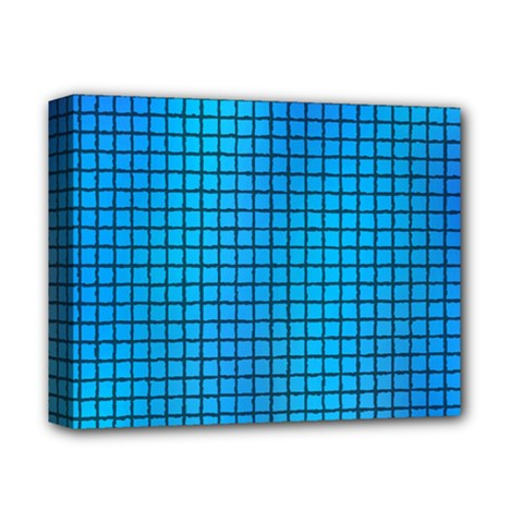 Seamless Blue Tiles Pattern Deluxe Canvas 14  X 11  by Amaryn4rt