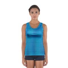Seamless Blue Tiles Pattern Women s Sport Tank Top