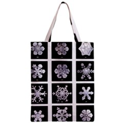 Snowflakes Exemplifies Emergence In A Physical System Zipper Classic Tote Bag by Amaryn4rt