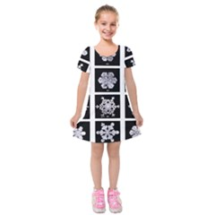 Snowflakes Exemplifies Emergence In A Physical System Kids  Short Sleeve Velvet Dress by Amaryn4rt