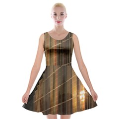 Swisstech Convention Center Velvet Skater Dress by Amaryn4rt