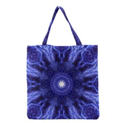 Tech Neon And Glow Backgrounds Psychedelic Art Grocery Tote Bag by Amaryn4rt