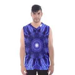 Tech Neon And Glow Backgrounds Psychedelic Art Men s Basketball Tank Top by Amaryn4rt