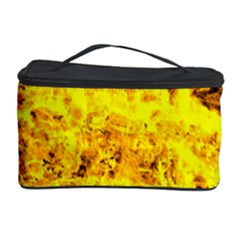 Yellow Abstract Background Cosmetic Storage Case by Amaryn4rt