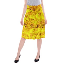 Yellow Abstract Background Midi Beach Skirt by Amaryn4rt