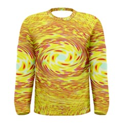 Yellow Seamless Psychedelic Pattern Men s Long Sleeve Tee