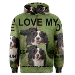 Bernese Mountain Dog Love W Pic Men s Zipper Hoodie by TailWags