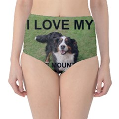 Bernese Mountain Dog Love W Pic High-Waist Bikini Bottoms by TailWags