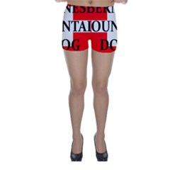 Ber Mt Dog Name Switzerland Flag Skinny Shorts by TailWags
