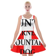 Ber Mt Dog Name Switzerland Flag Velvet Skater Dress by TailWags