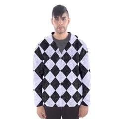 Square2 Black Marble & White Marble Hooded Wind Breaker (men) by trendistuff