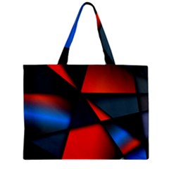 3d And Abstract Zipper Mini Tote Bag by Onesevenart