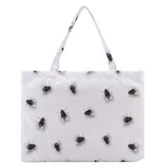 Flies Medium Zipper Tote Bag by Valentinaart