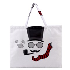Invisible Man Zipper Large Tote Bag by Valentinaart