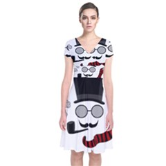 Invisible Man Short Sleeve Front Wrap Dress by Valentinaart