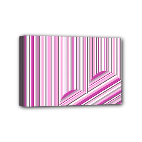 Pink Love Pattern Mini Canvas 6  X 4  by Valentinaart