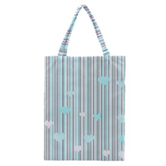 Cyan Love Classic Tote Bag by Valentinaart