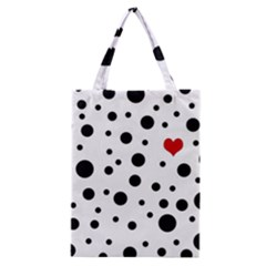Dots And Hart Classic Tote Bag by Valentinaart
