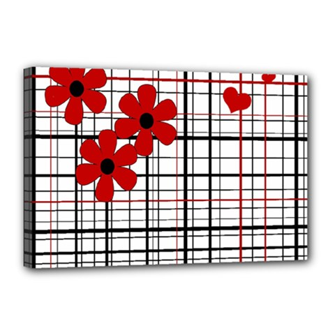 Cute Floral Desing Canvas 18  X 12  by Valentinaart