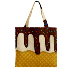 Ice Cream Zoom Grocery Tote Bag by Valentinaart