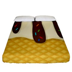 Ice Cream Zoom Fitted Sheet (queen Size)