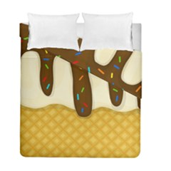 Ice Cream Zoom Duvet Cover Double Side (full/ Double Size) by Valentinaart