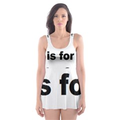 B Is For Border Collie Skater Dress Swimsuit