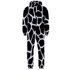 Skin1 Black Marble & White Marble (r) Hooded Jumpsuit (men)