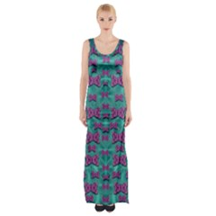 Peace And Freedom Over The Sea Of Softness Maxi Thigh Split Dress by pepitasart
