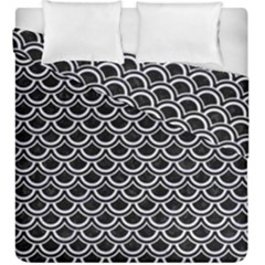 Scales2 Black Marble & White Marble Duvet Cover Double Side (king Size) by trendistuff