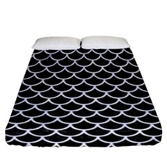 Scales1 Black Marble & White Marble Fitted Sheet (california King Size) by trendistuff