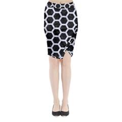 HXG2 BK-WH MARBLE Midi Wrap Pencil Skirt by trendistuff