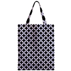 Circles3 Black Marble & White Marble Zipper Classic Tote Bag by trendistuff