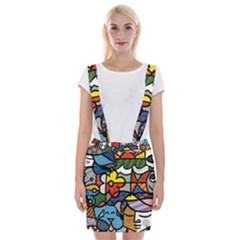 Colorful Braces Suspender Skirt