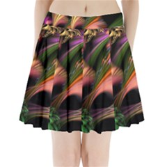 Color Burst Abstract Pleated Mini Skirt by Onesevenart