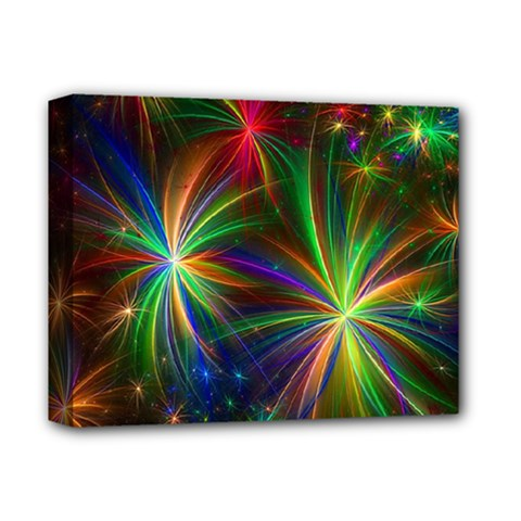 Colorful Firework Celebration Graphics Deluxe Canvas 14  X 11  by Onesevenart