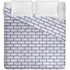 Brick1 Black Marble & White Marble (r) Duvet Cover Double Side (king Size) by trendistuff