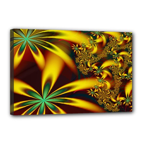 Floral Design Computer Digital Art Design Illustration Canvas 18  X 12  by Onesevenart