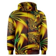Floral Design Computer Digital Art Design Illustration Men s Zipper Hoodie by Onesevenart