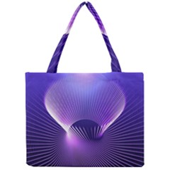 Space Galaxy Purple Blue Line Mini Tote Bag by AnjaniArt