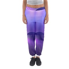 Space Galaxy Purple Blue Line Women s Jogger Sweatpants by AnjaniArt