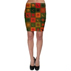 Space Month Saturnus Planet Star Hole Black White Multicolour Orange Bodycon Skirt by AnjaniArt