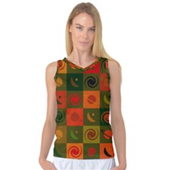 Space Month Saturnus Planet Star Hole Black White Multicolour Orange Women s Basketball Tank Top by AnjaniArt