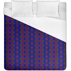 Split Diamond Blue Purple Woven Fabric Duvet Cover (king Size) by AnjaniArt
