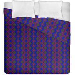 Split Diamond Blue Purple Woven Fabric Duvet Cover Double Side (king Size) by AnjaniArt