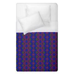 Split Diamond Blue Purple Woven Fabric Duvet Cover (single Size) by AnjaniArt