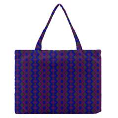 Split Diamond Blue Purple Woven Fabric Medium Zipper Tote Bag by AnjaniArt