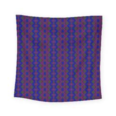 Split Diamond Blue Purple Woven Fabric Square Tapestry (small) by AnjaniArt